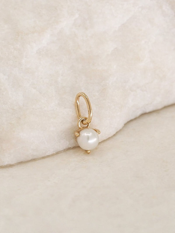 By Charlotte | 14k Gold June Birthstone Pendant | Perlu