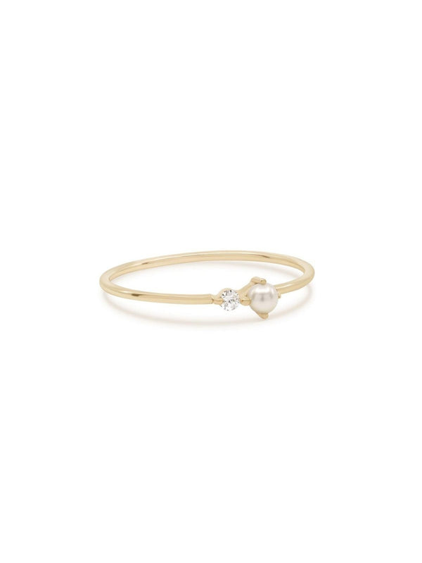 By Charlotte 14k Gold Light of the Moon Ring | Perlu