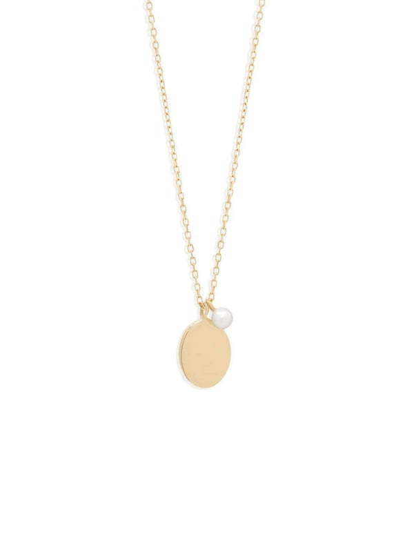 By Charlotte 14k Gold Peaceful Moon Necklace | Perlu