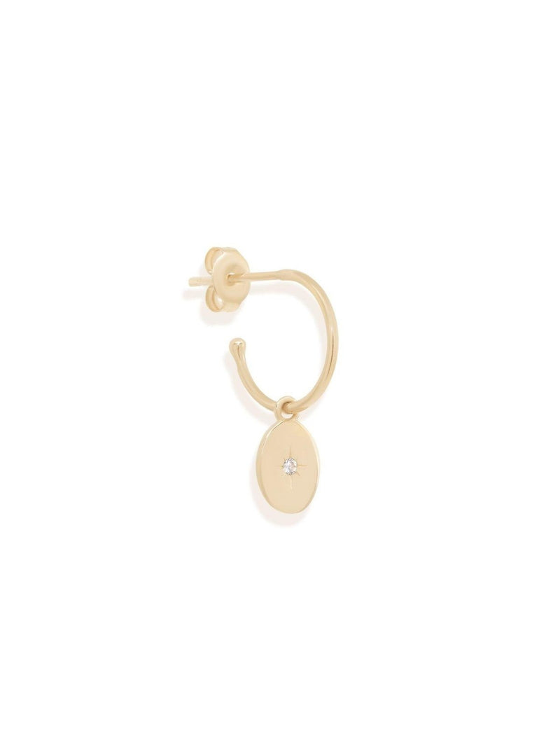 By Charlotte 14k Gold Shine Your Light Diamond Hoop | Perlu