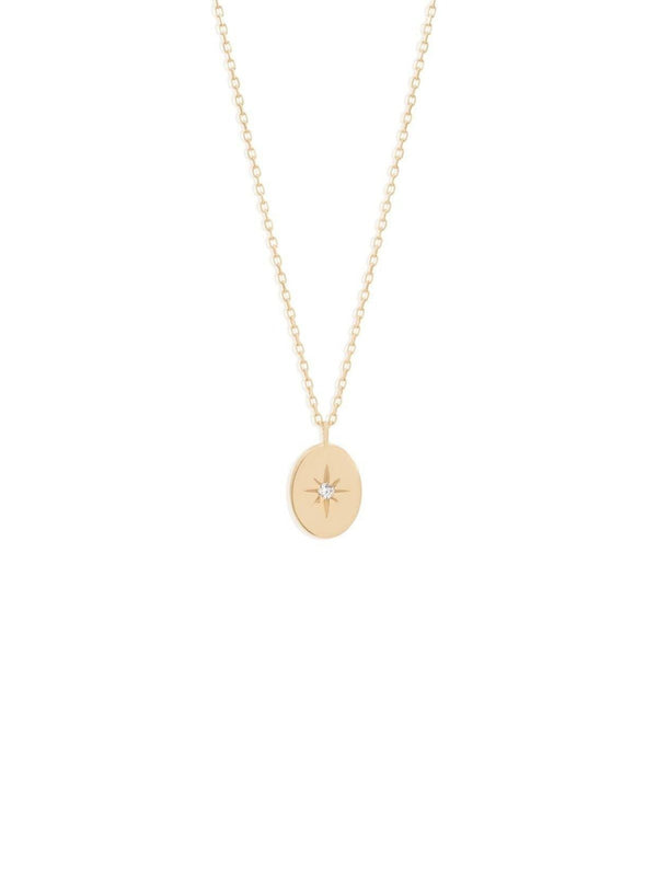 By Charlotte 14k Gold Shine Your Light Diamond Necklace | Perlu
