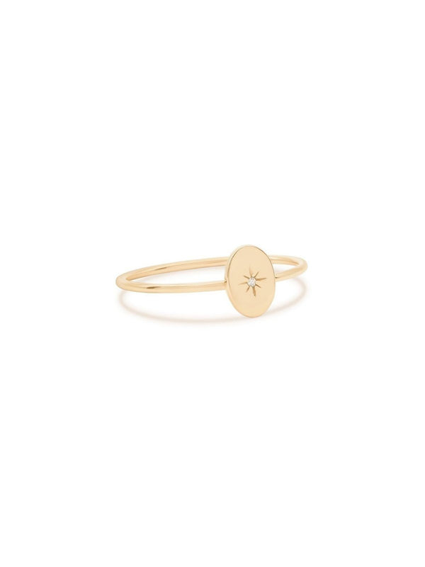 By Charlotte 14k Gold Shine Your light Ring | Perlu