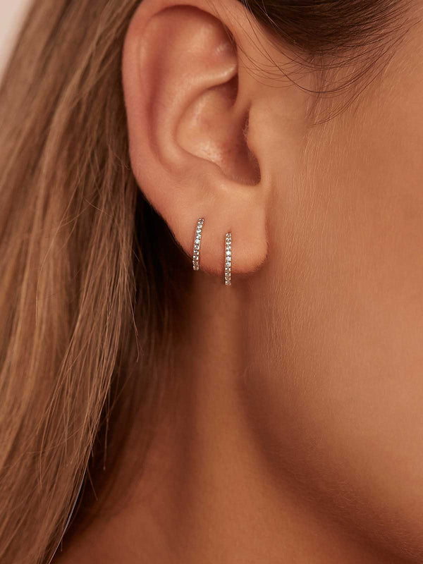 14k White Gold Celestial Sleepers Earrings By Charlotte