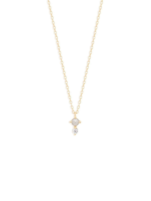By Charlotte 14kt Gold Light Of The Moon Necklace | Perlu