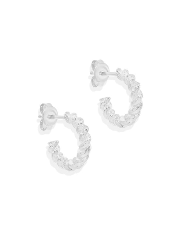 By Charlotte Divine Fate Small Hoops Silver | Perlu