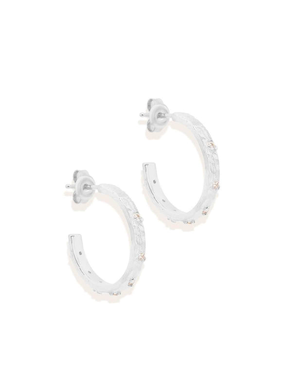 By Charlotte Enlightened Hoops - Silver | Perlu