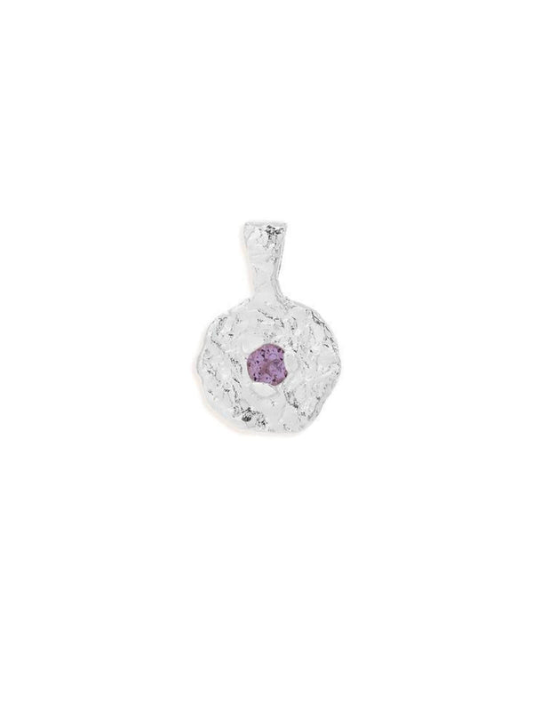 February Amethyst Birthstone Pendant- Silver Accessories By Charlotte
