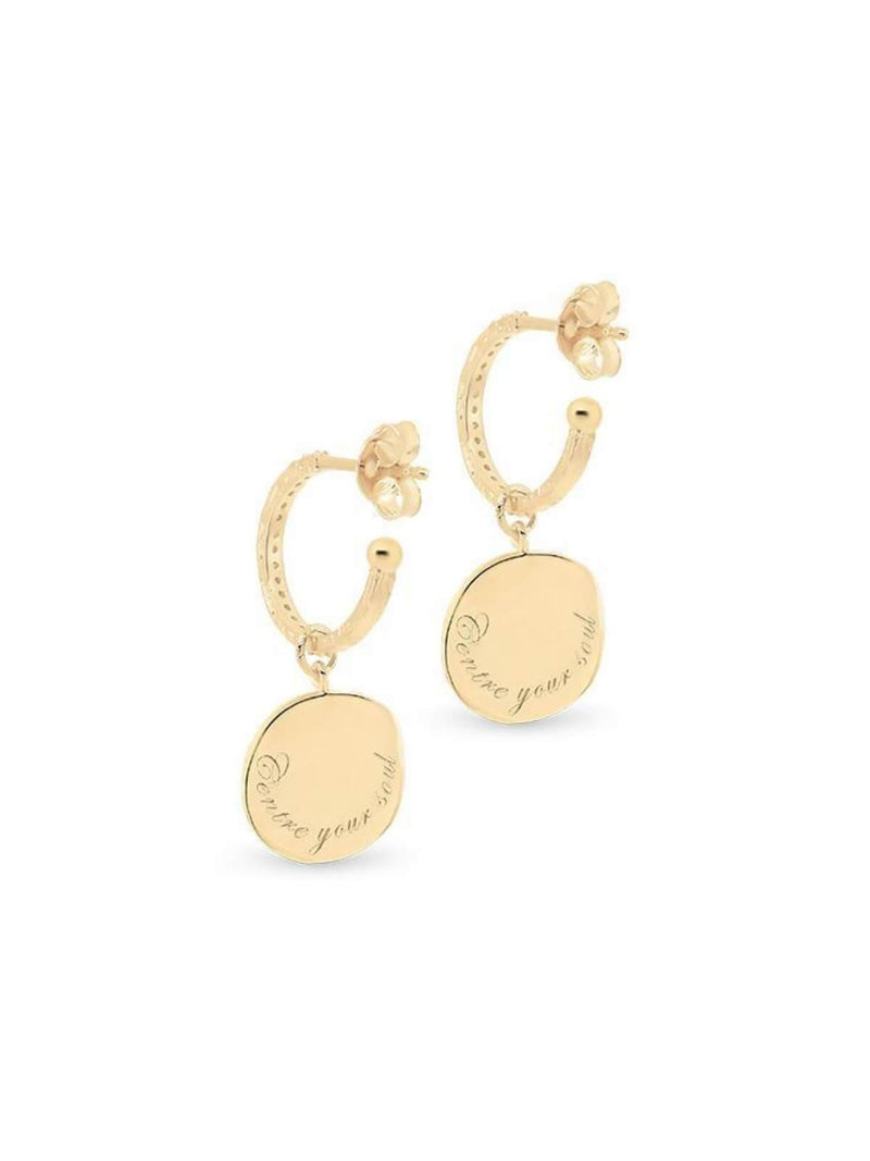 By Charlotte Goddess of Earth Hoops Gold | Perlu
