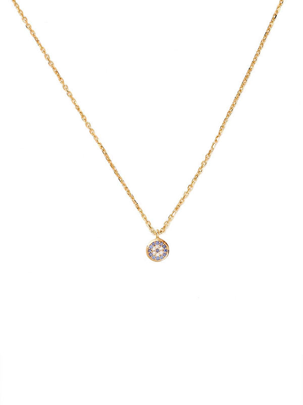 By Charlotte | Gold Jewelled Eye Necklace | Perlu