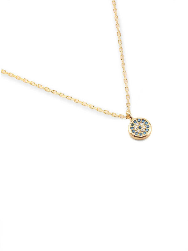 Gold Jewelled Eye Necklace