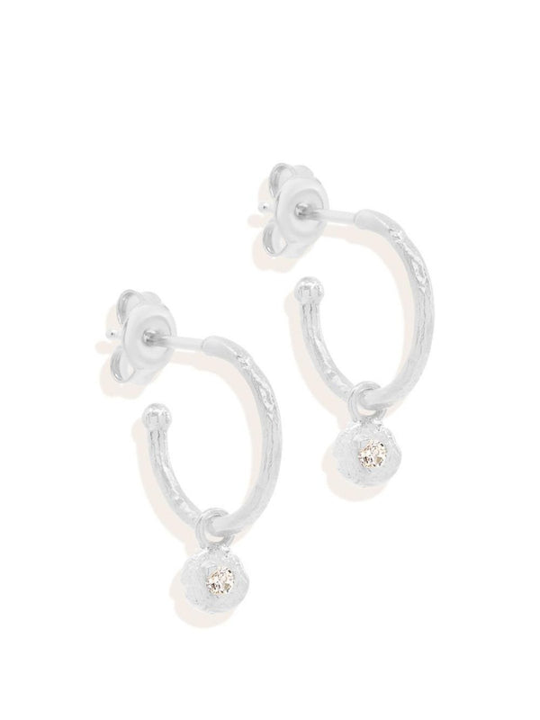 By Charlotte Guiding Light Hoops Silver | Perlu