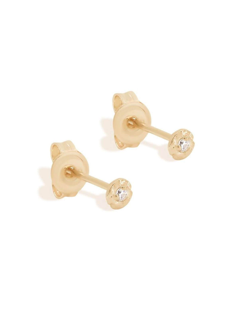 By Charlotte Guiding Light Stud Earring Gold | Perlu