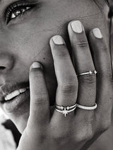 By Charlotte Light Catcher Ring Silver | Perlu