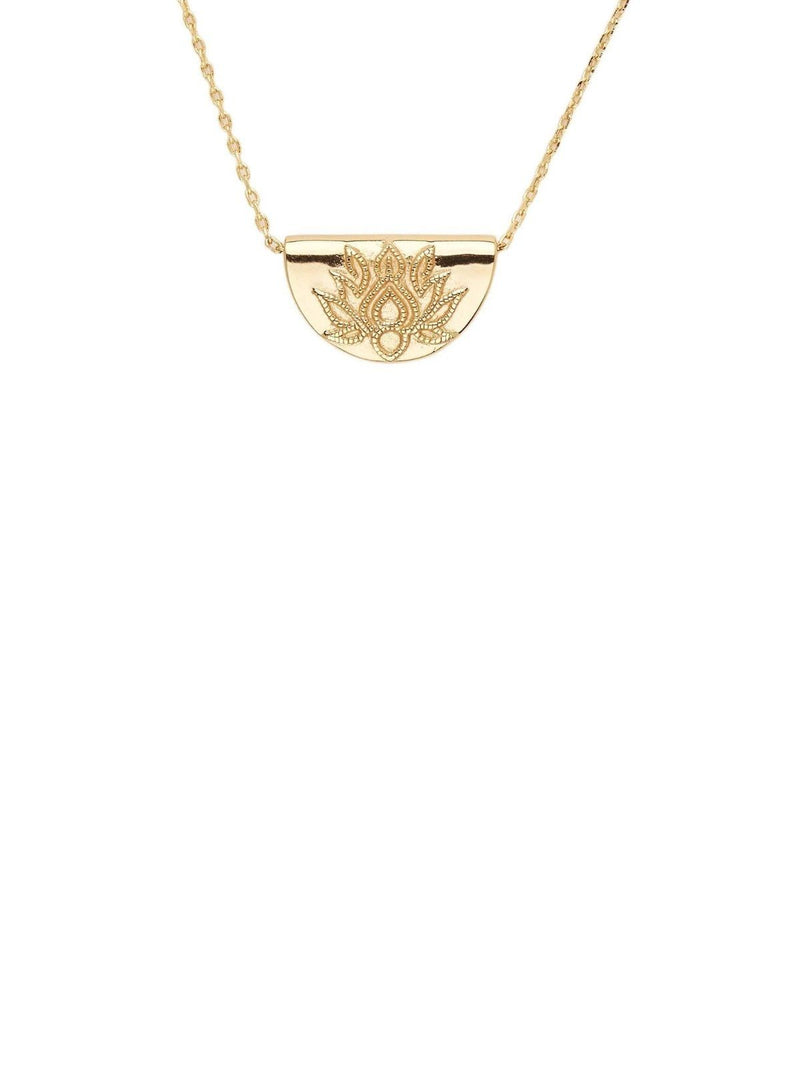 By Charlotte Lotus Short Necklace Gold | Perlu