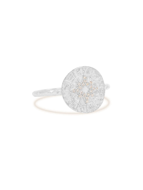 By Charlotte Written In The Stars Ring Silver | Perlu