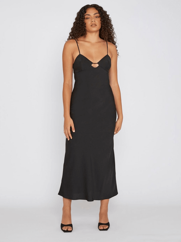 By Johnny Orchid Slip Dress Black | Perlu