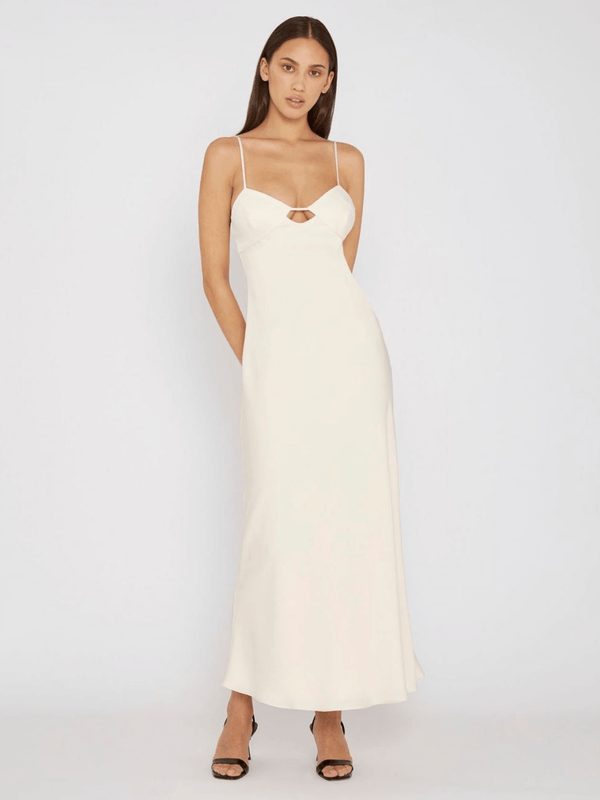 By Johnny Orchid Slip Dress Creme | perlu