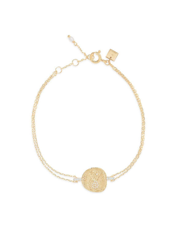 By Charlotte I Gold Goddess Of Air Bracelet I Perlu