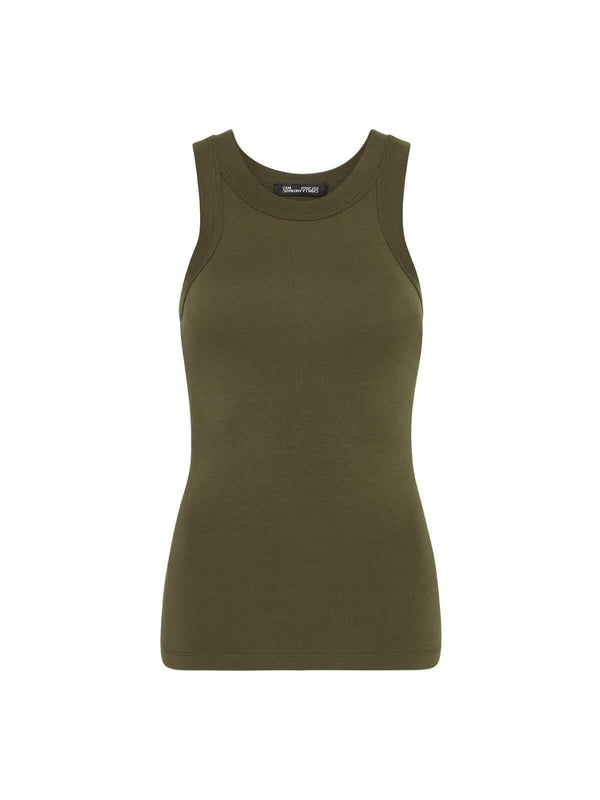 Camilla and Marc Park Tank Dark Khaki | Perlu