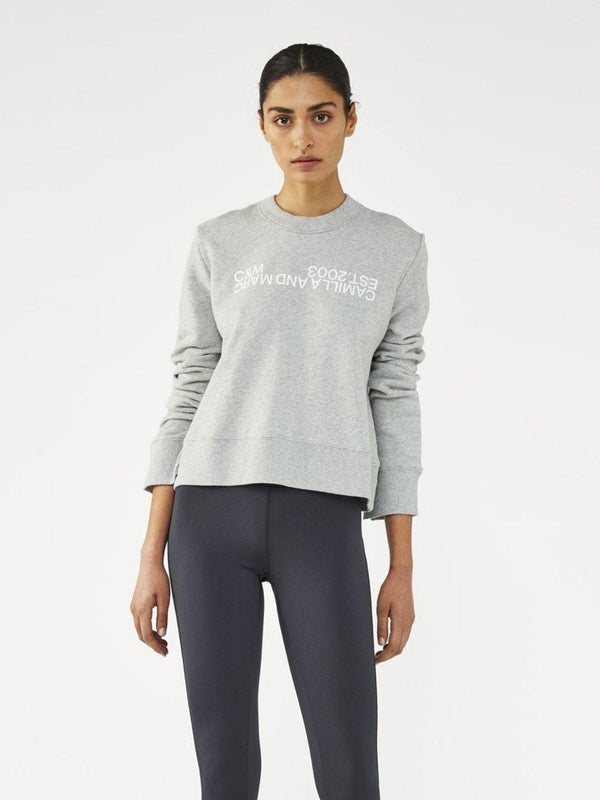 Camilla and Marc James Logo Crew Grey Marle | Perlu