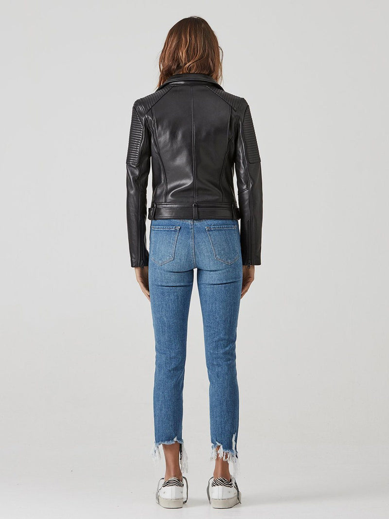 Classic Biker Jacket ~ Black / Black Coats & Jackets Ena Pelly