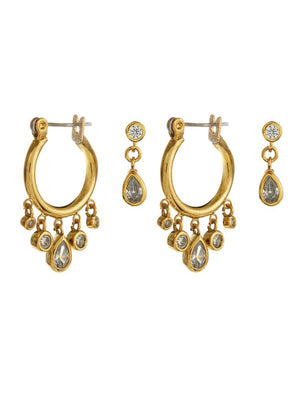 Cosmic Teardrop Mini Hoops Set