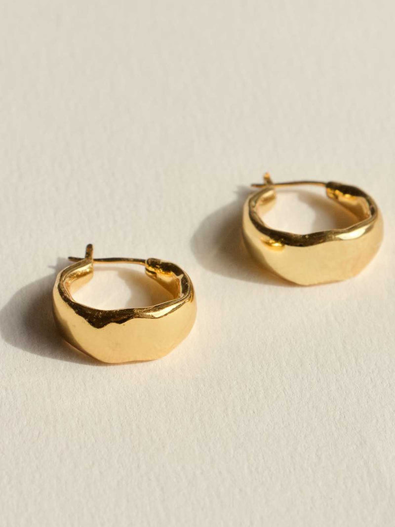 Brie Leon Organica Curved Earrings Gold | Perlu