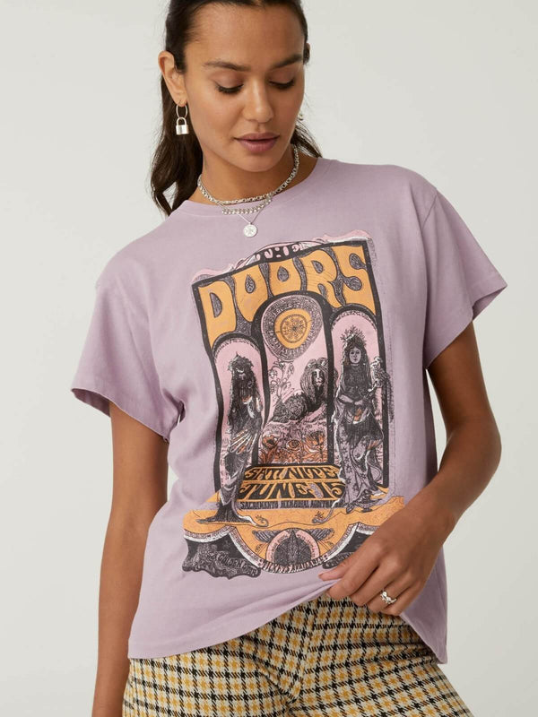 Daydreamer The Doors Concert Poster Tour Tee Dusty Orchid | Perlu