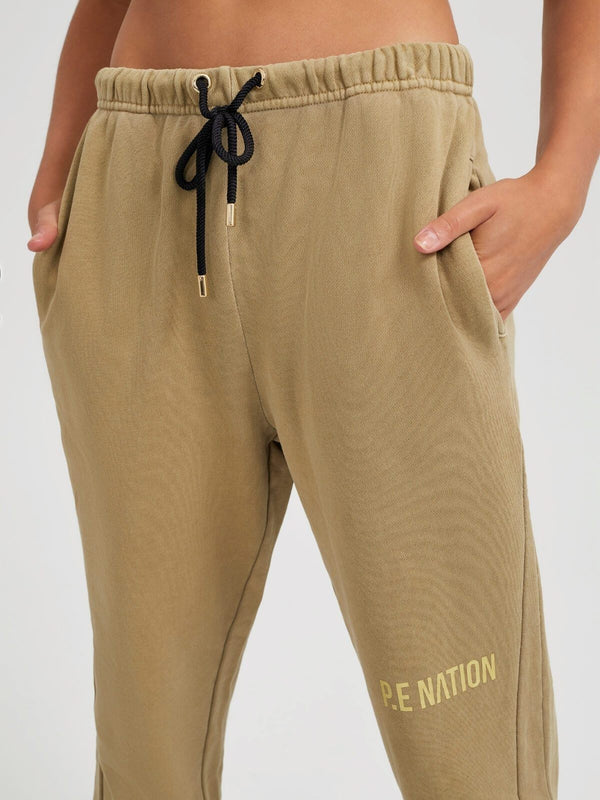 P.E Nation Defense Track Pant Olive Gray | Perlu