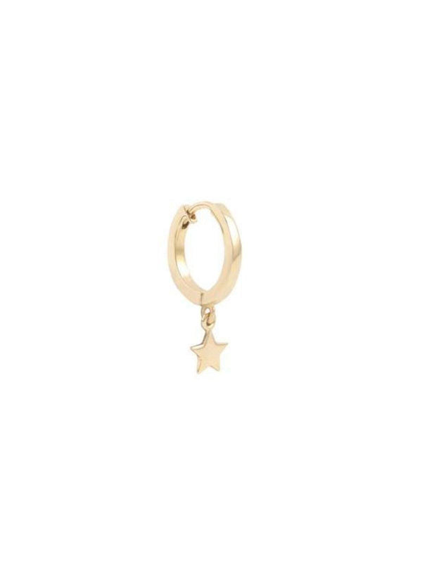 By Charlotte 14k Wish Upon A Star Hoop - Single
