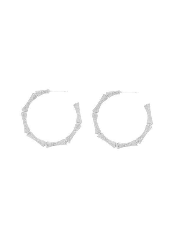 Cane Hoops Silver Earrings Jolie & Deen
