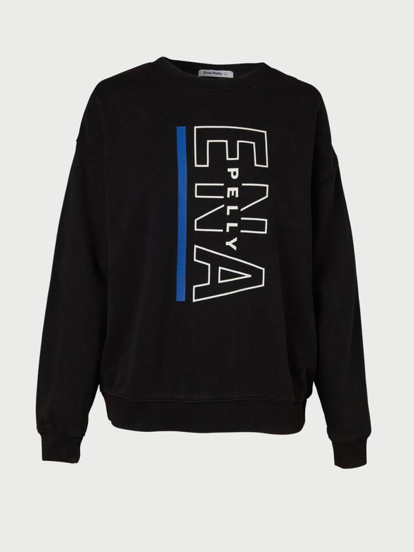 Ena Pelly Baseline Logo Sweatshirt Washed Black