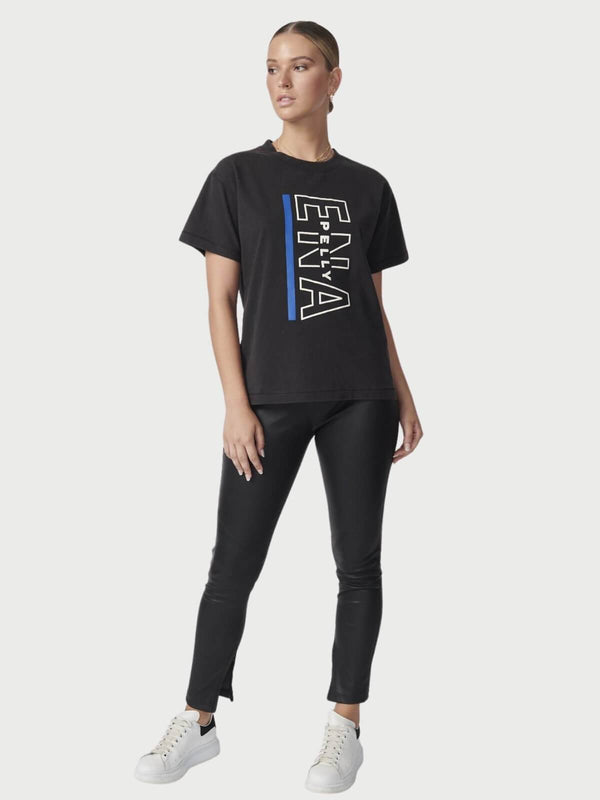 Ena Pelly Baseline Logo Tee Washed Black | Perlu