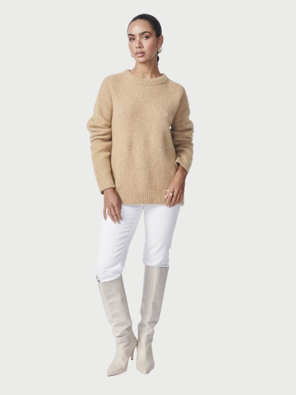 Ena Pelly | Mohair Blend Knit - Oatmeal | Perlu