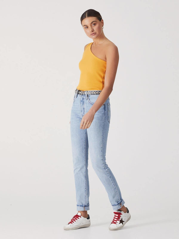 Ena Pelly One Shoulder Top Saffron | Perlu