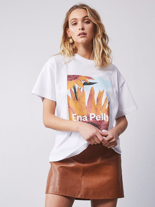 Ena Pelly Sunflower Tee White | Perlu
