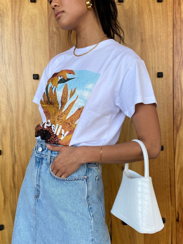 Sunflower Tee - White