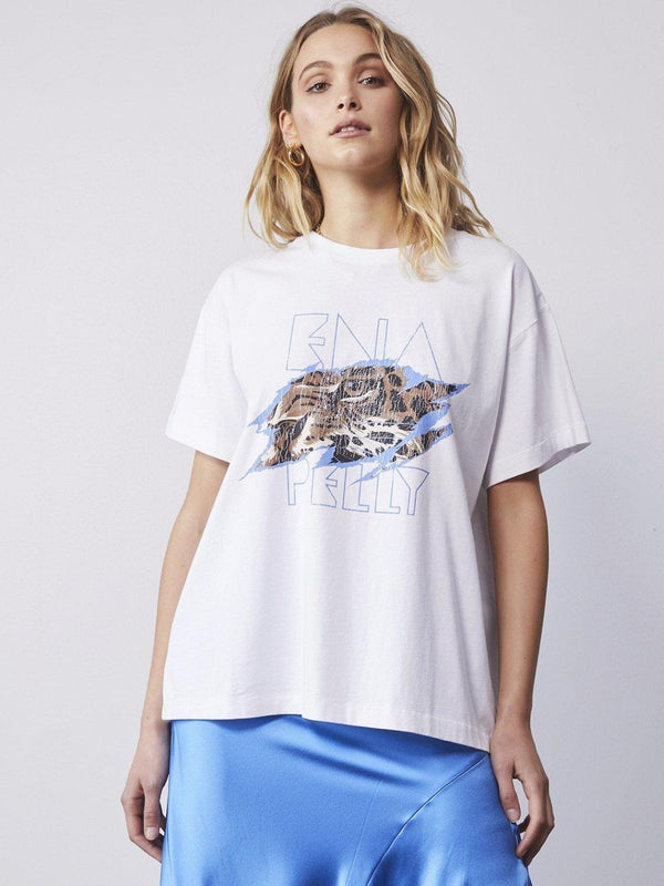 Ena Pelly Tigers Eye Tee White | Perlu