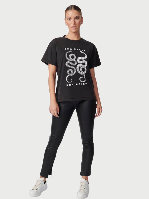 Ena Pelly Yin Yang Tee in Washed Black | Perlu
