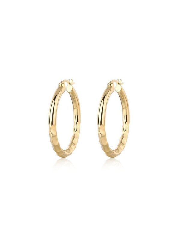 F and H Easy Ride hammered Hoops Large | Perlu