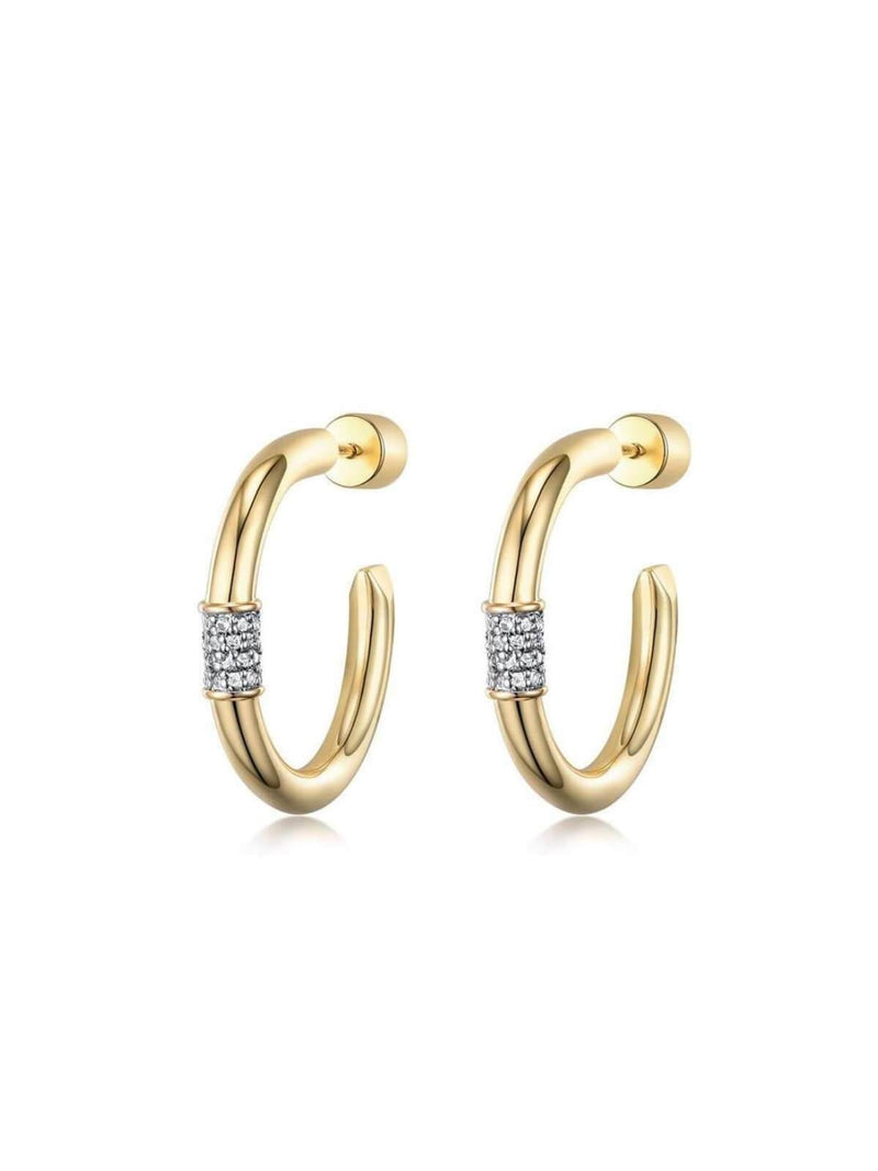 F+H Last Nite Hoop Earrings - Small | Perlu