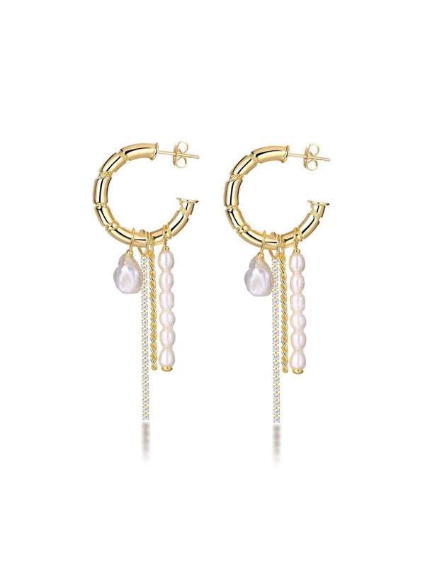 F+H Party Charm Earrings Freshwater Pearl | Perlu