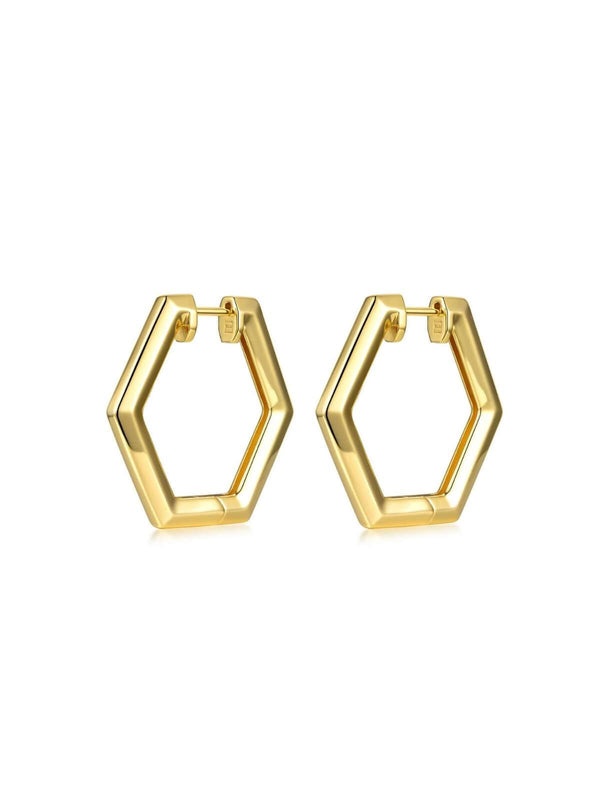 F+H | Remix Earrings  Large - Brass + 18K Gold | Perlu