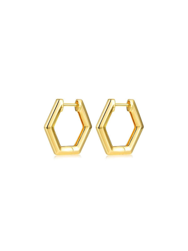 F+H | Remix Earrings Small - Brass + 18K Gold | Perlu