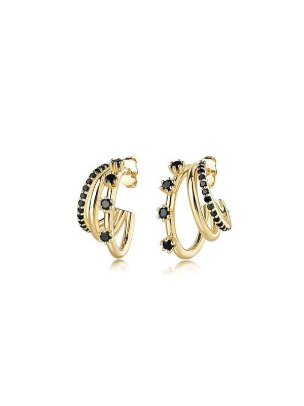 F+H Triple Threat Gemstones Hoops | Perlu