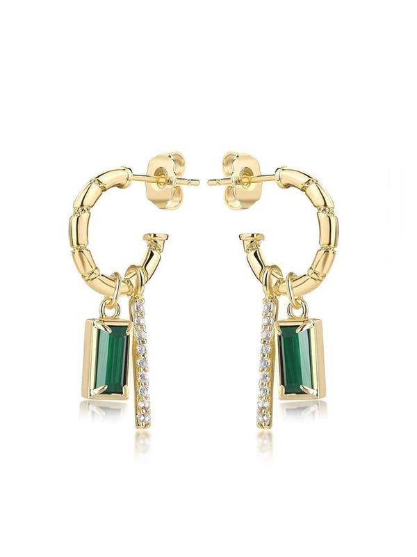 F+H Madonna Charm Earrings Malachite | Perlu