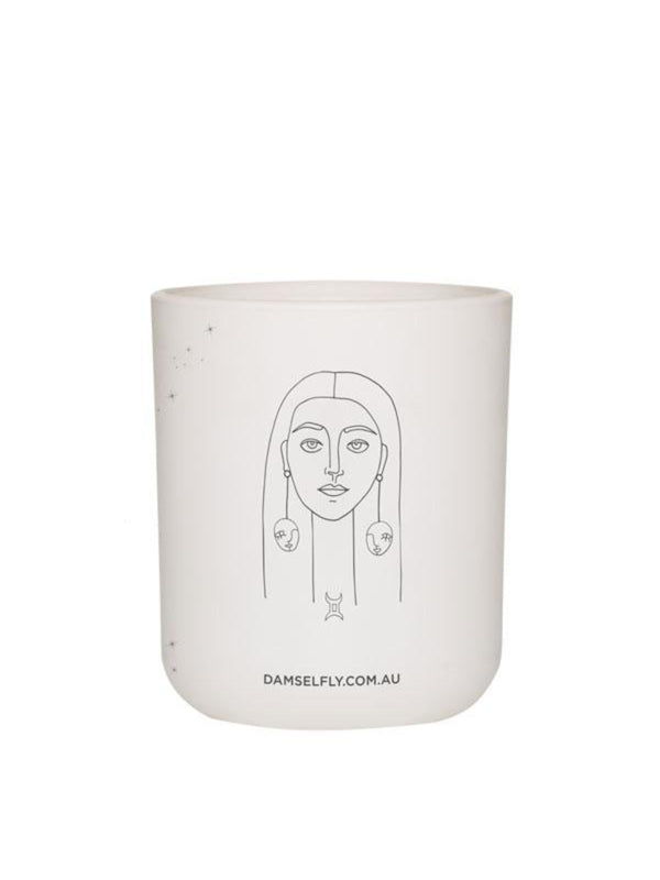 Large Zodiac Candle - Gemini Homewares Damselfly