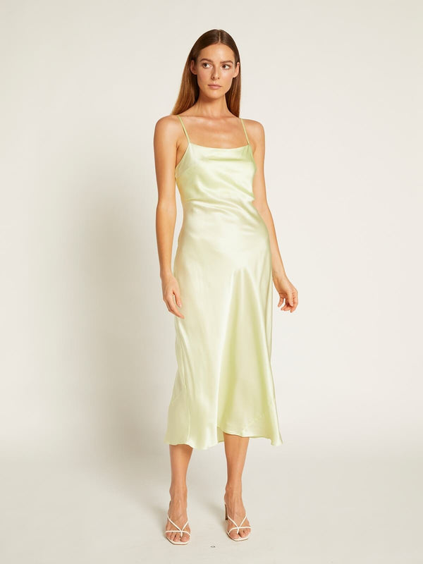 Ginia Blaire Dress Lime Creme | Perlu