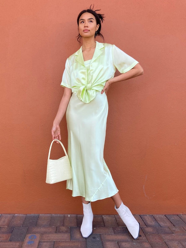 Blaire Dress - Lime Creme