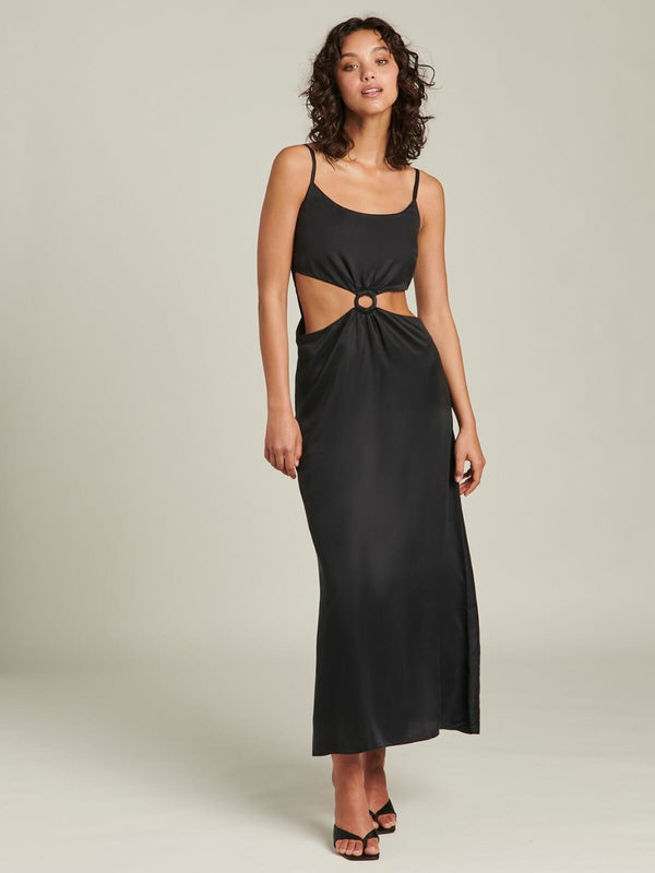 Ginia Sabrina Maxi Dress Black | Perlu